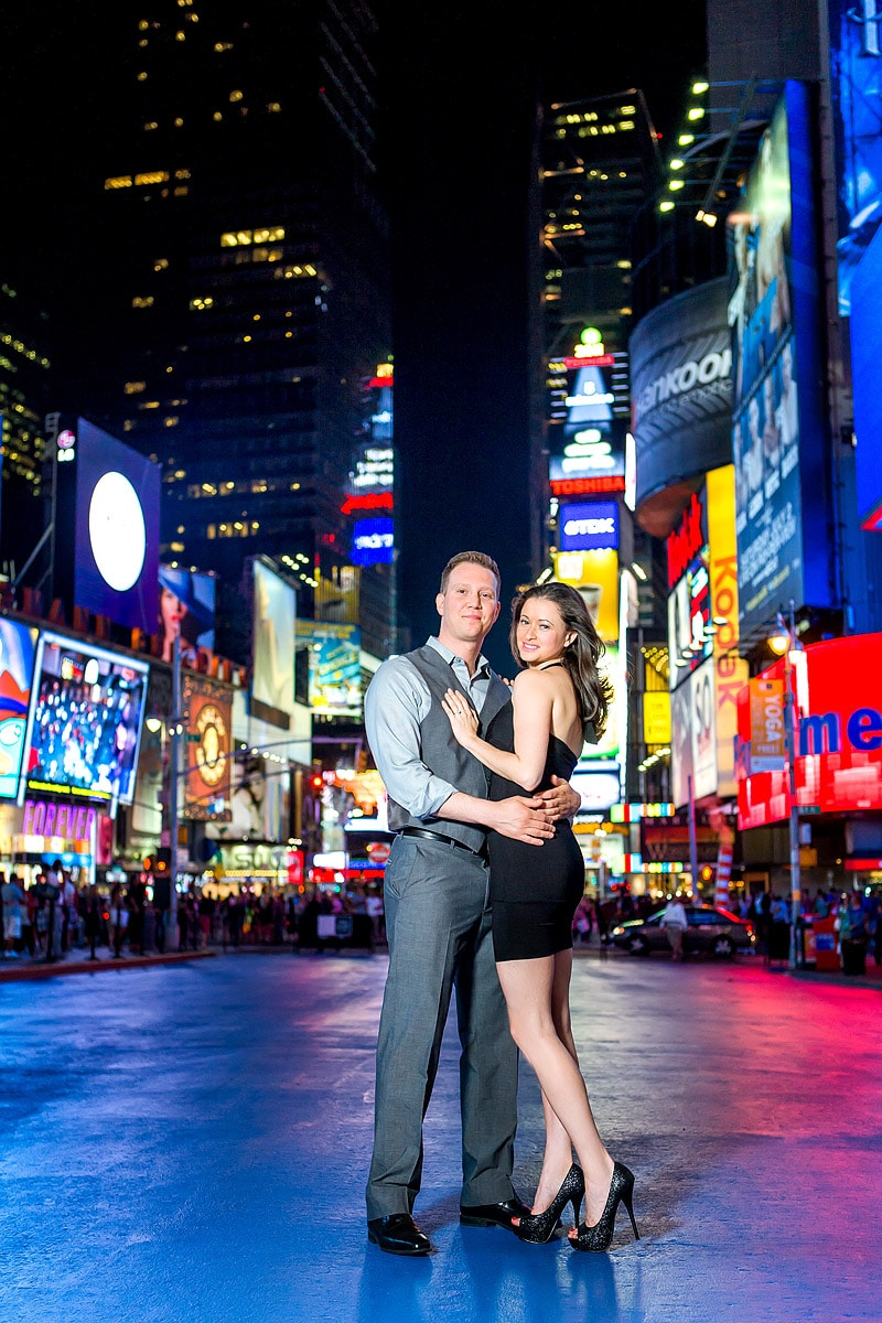 Times Square Engagement Photos