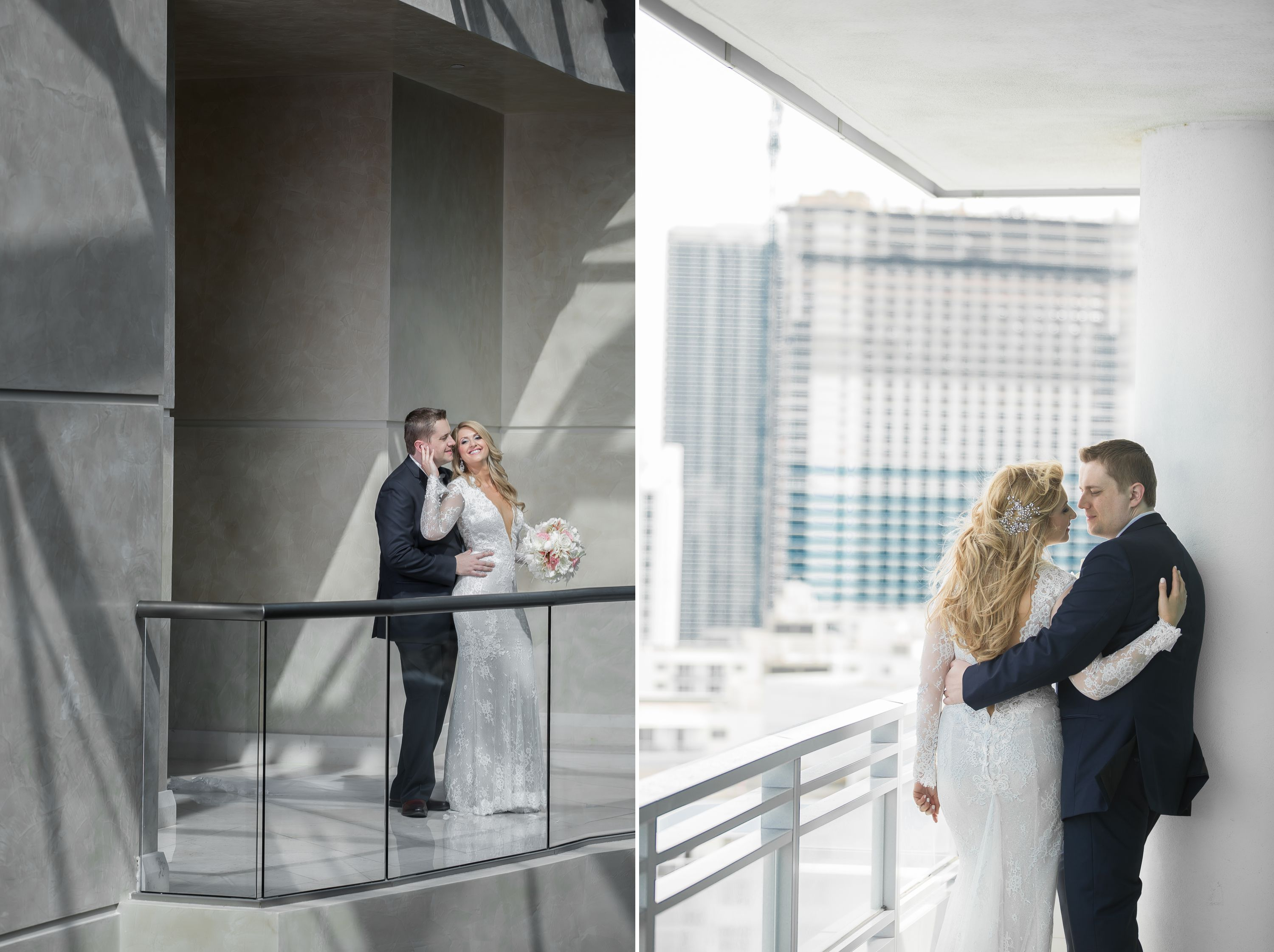 Styled photos of bride and groom at a Diplomat Beach Resort Wedding