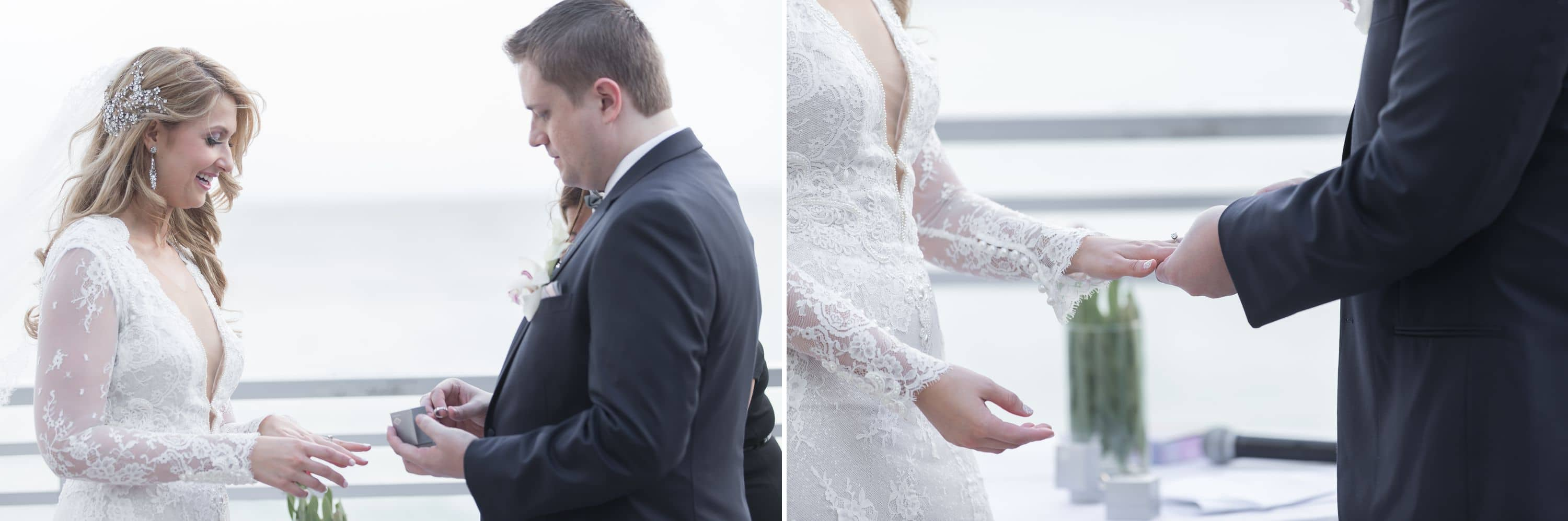 A photo of the ring exchange at a Diplomat Beach Resort Wedding