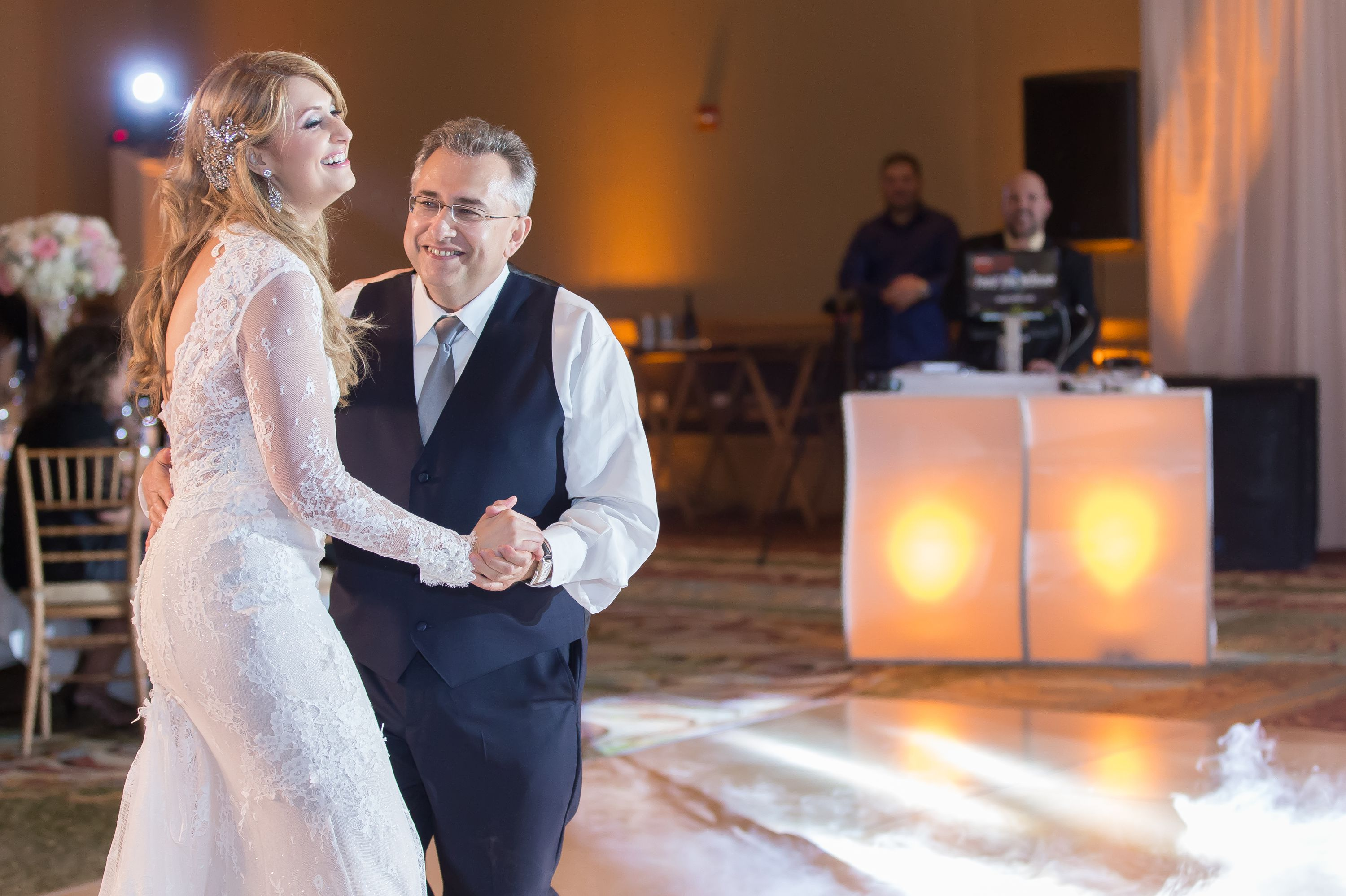 Bride dancing with dad at this Diplomat Beach Resort Wedding