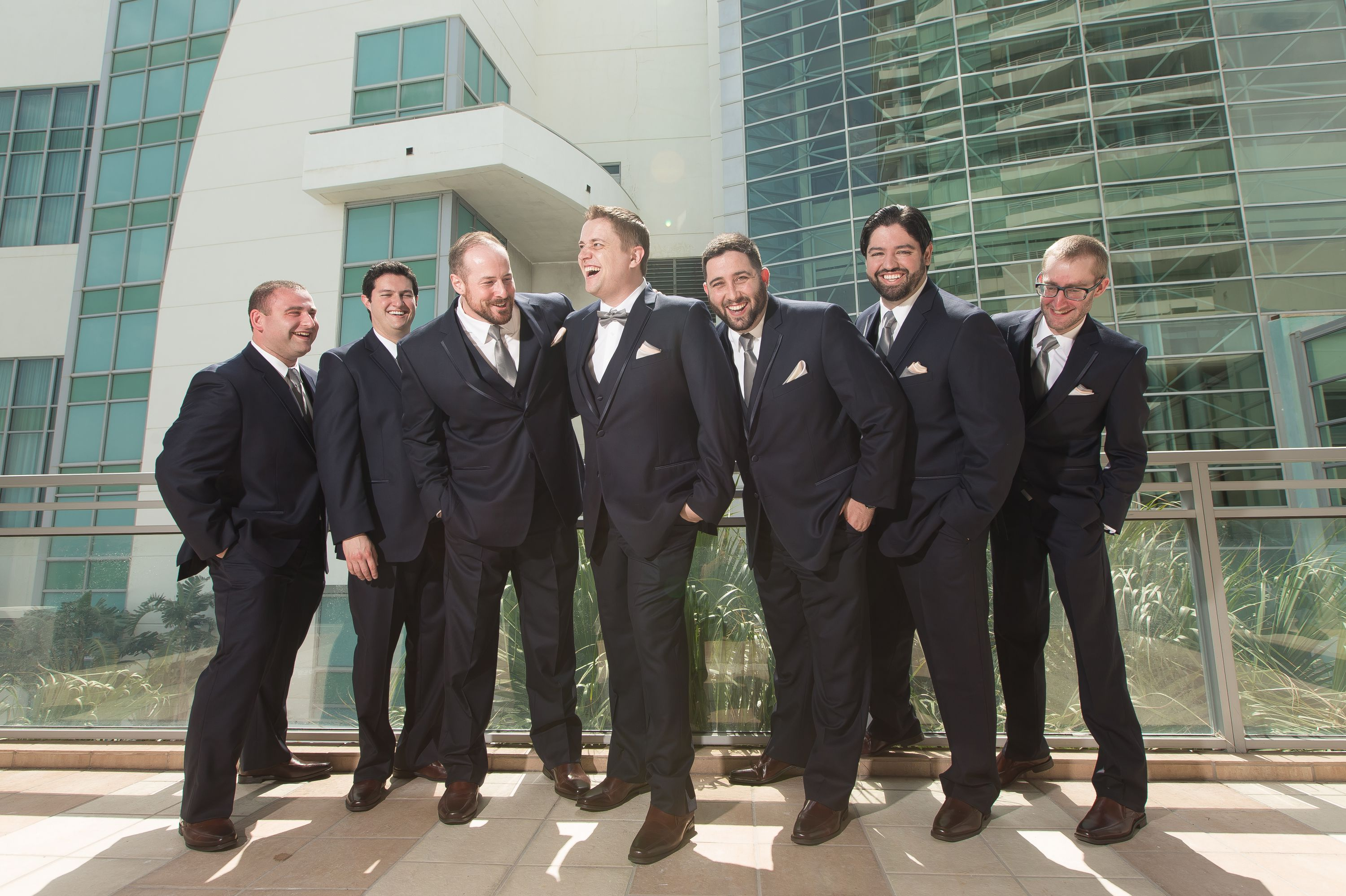 Styled shot of all the groomsmen at Diplomat Beach Resort Wedding