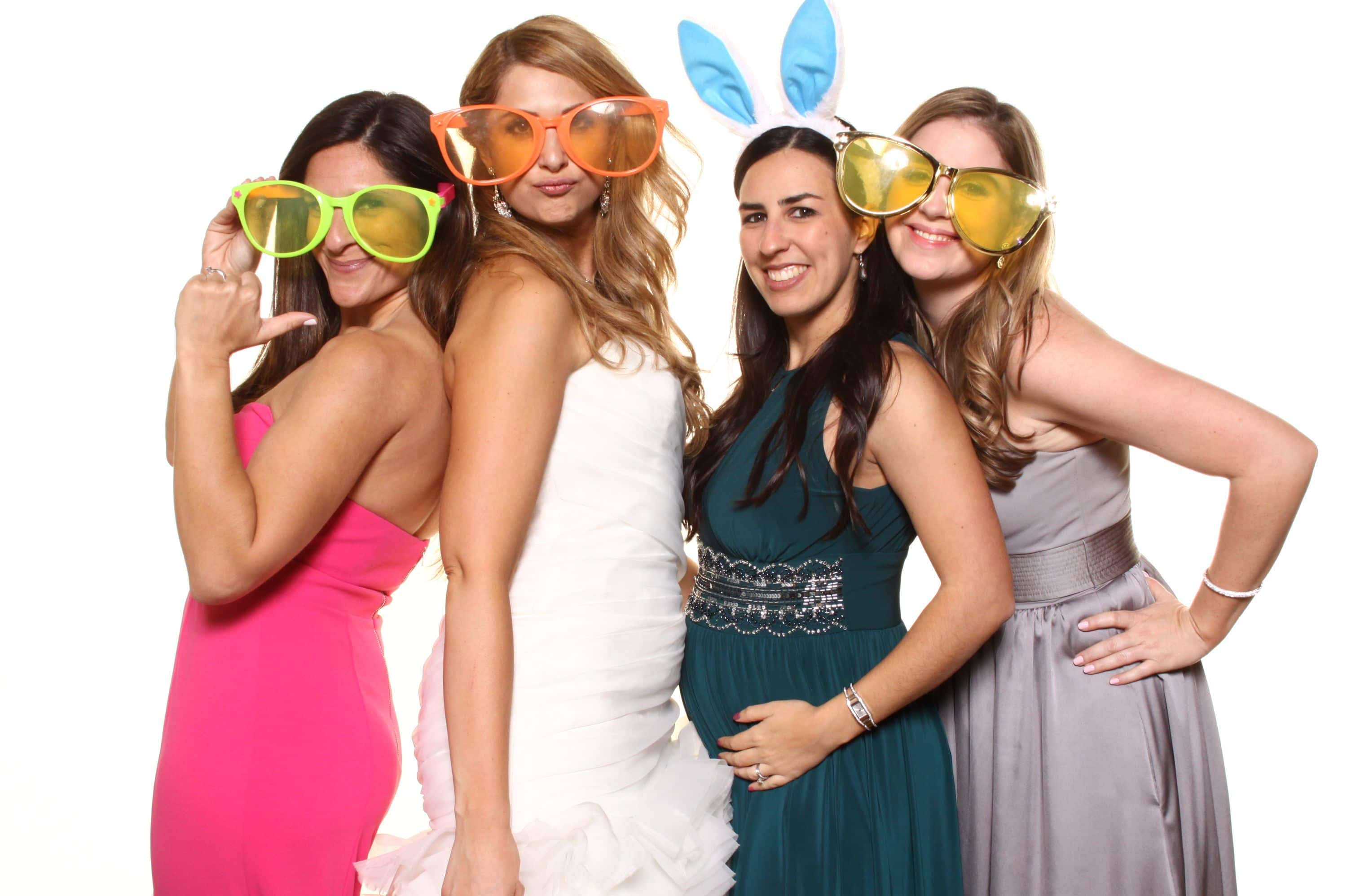 Photobooth fun photos with bride at a Diplomat Beach Resort Wedding