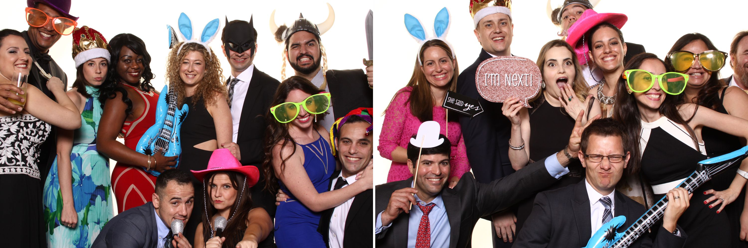 Photobooth photo with many people in it at a Diplomat Beach Resort Wedding